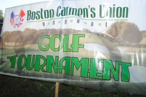 Banner from the 2014 Boston Carmen Union's Annual Golf Tournament.