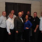 Local 589's Executive Board seen here with House Speaker Robert DeLeo
