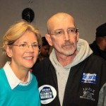 John Laughlin with Sen. Warren.
