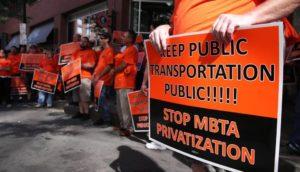 Rally to Stop Privatization @ Transportation Building | Lynn | Massachusetts | United States
