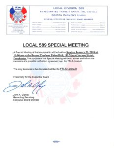 Special Meeting @ Boston Teachers Union Hall | Boston | Massachusetts | United States