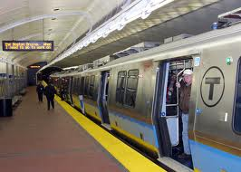 MBTA New Blue Line Train.