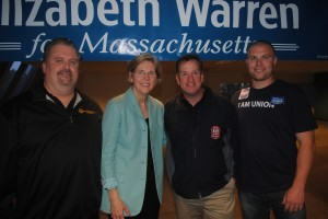 Local 589 Joins Elizabeth Warren at Rally for the Middle Class