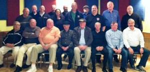 Members of the Executive Board and past officers of local 589 take a moment for a picture at the past officers luncheon.