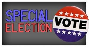 Graphic that says special election and VOTE.