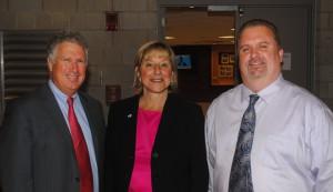 State Senator Tom McGee, State Senator Karen Spilka, and Local 589's John Lee.