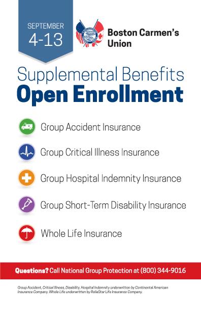 Open Enrollment for Supplemental Benefits - Boston Carmen's