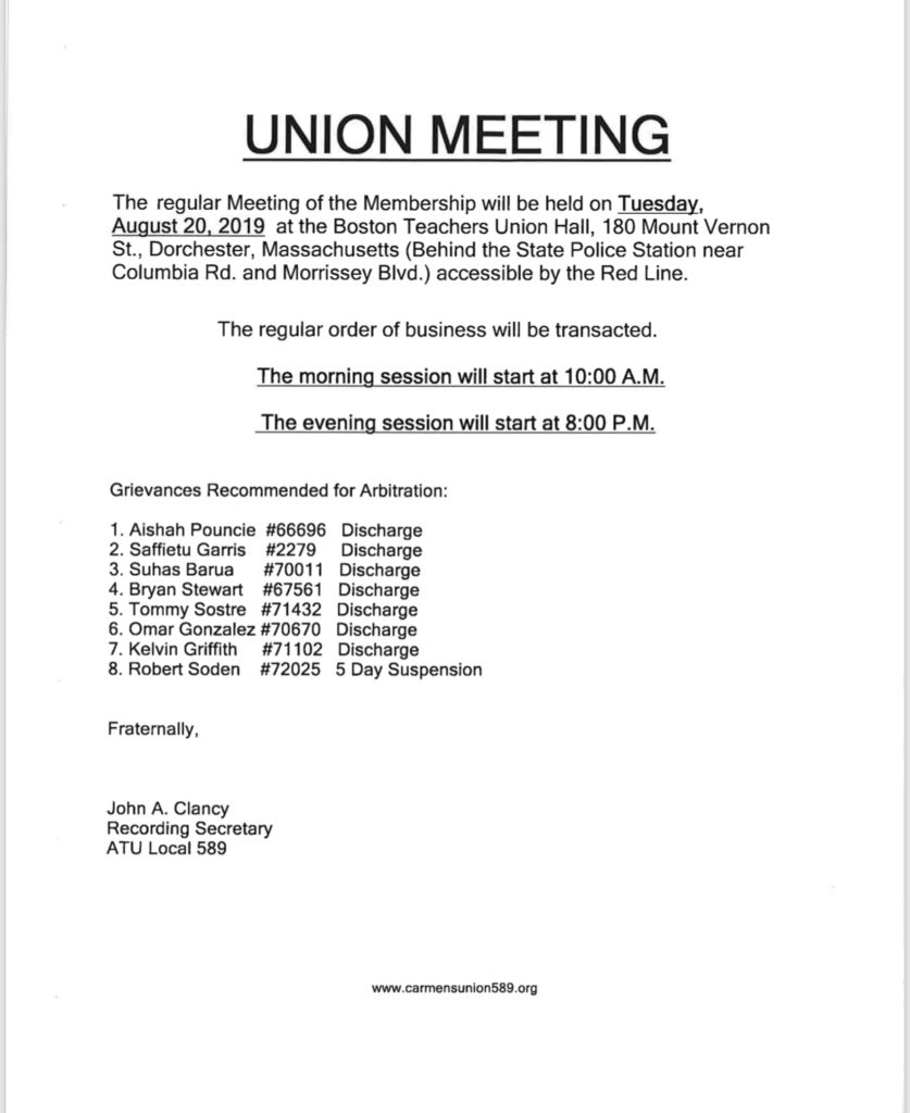 Union Meeting @ BTU Hall
