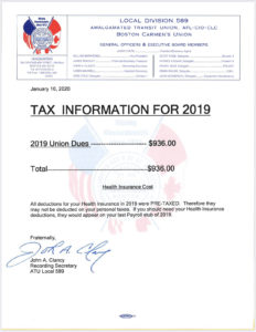 Tax Information for 2019