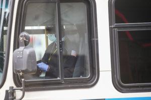 MBTA bus driver wearing mask.