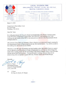 Endorsement Letter for Jeff Turco